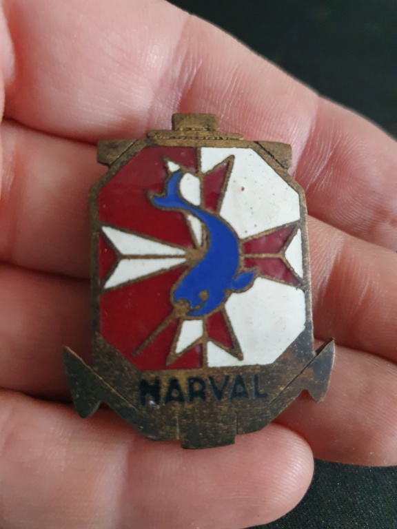 Insigne pucelle Narval  sous marin a identifier 20200636