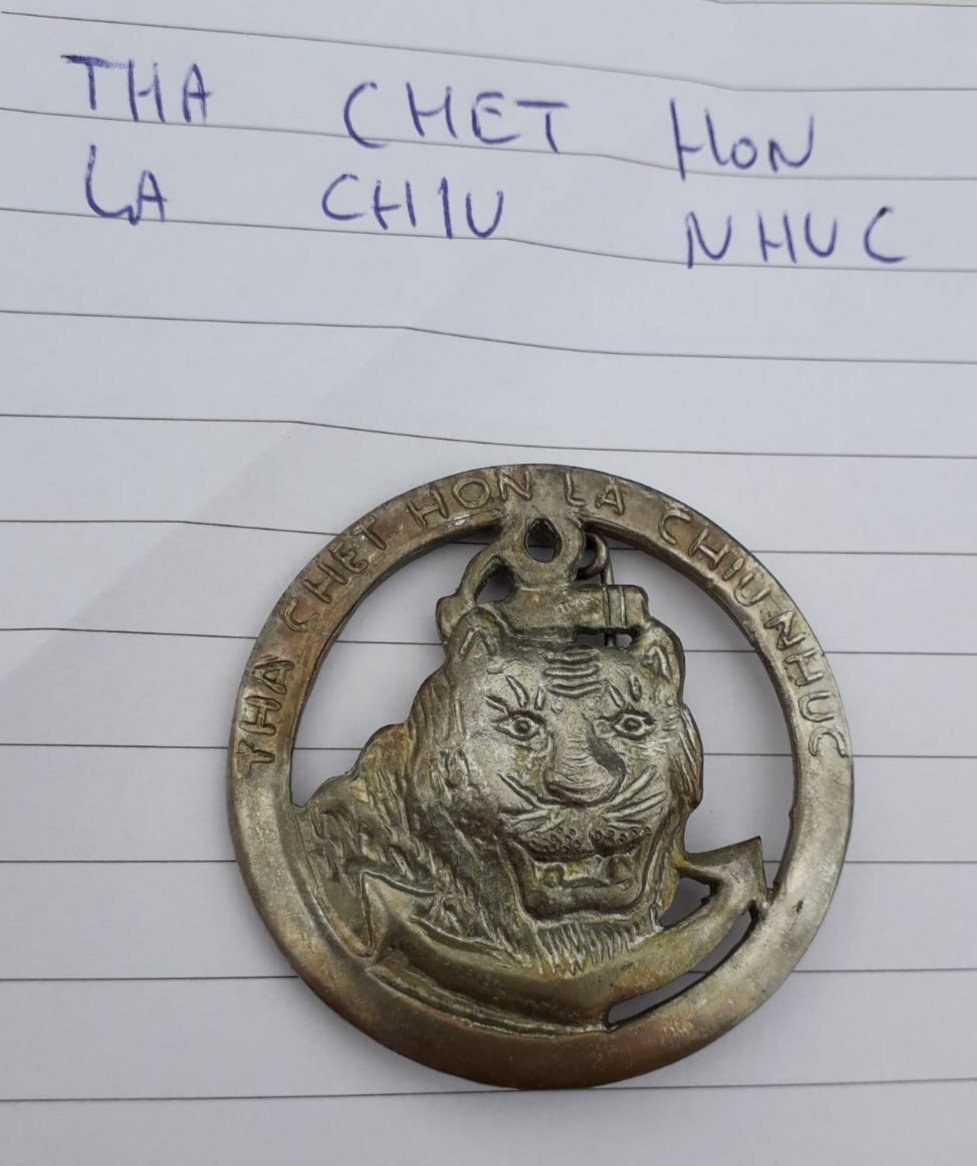 Insigne pucelle Indochine  FR. THA CHET HON 20200771
