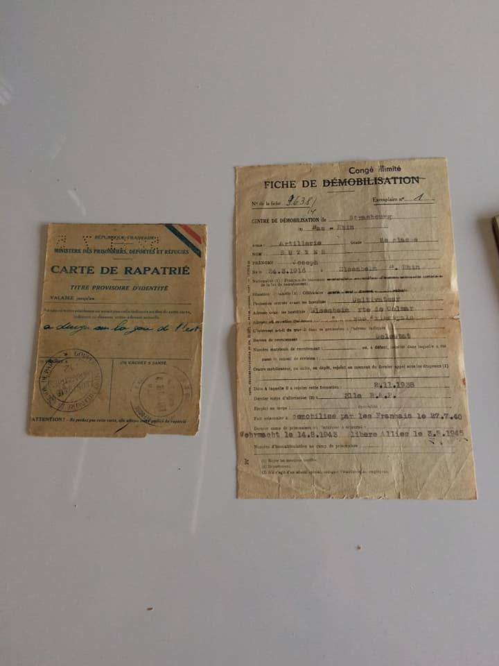 Soldbuch  allemand 39- 45 Kriegsmarine d'un malgré nous à Traduire 2310
