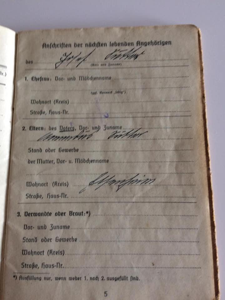 Soldbuch  allemand 39- 45 Kriegsmarine d'un malgré nous à Traduire 514
