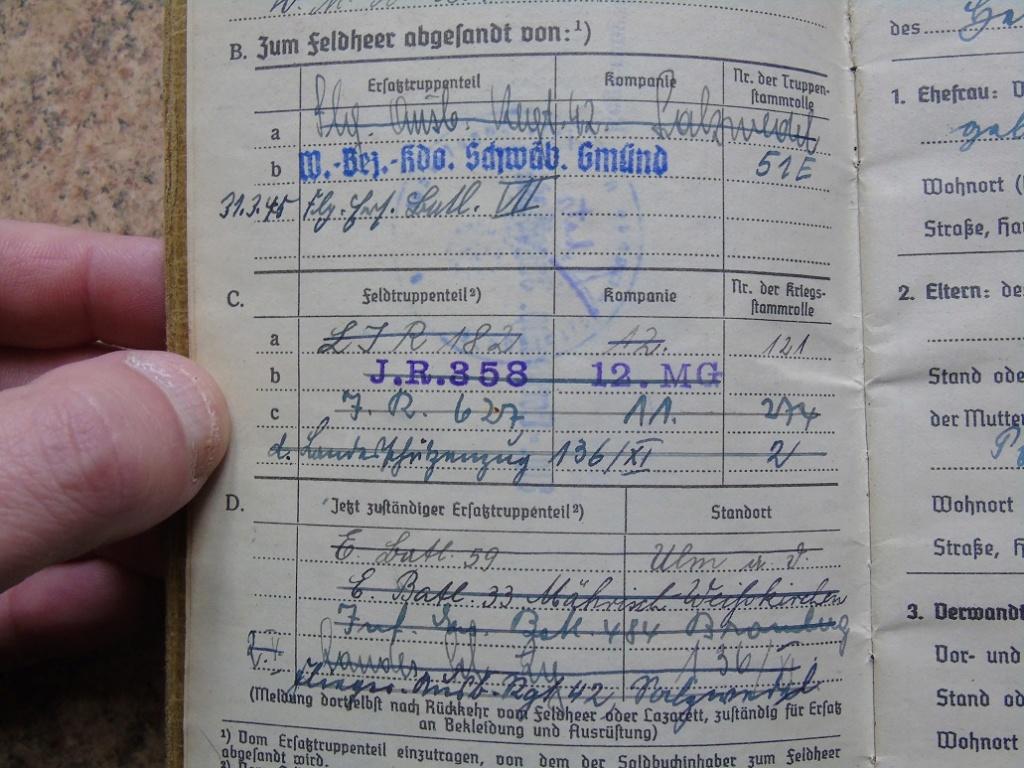 Soldbuch allemand 39-45 d'unmalgré nous à Traduire merci Dsc03139