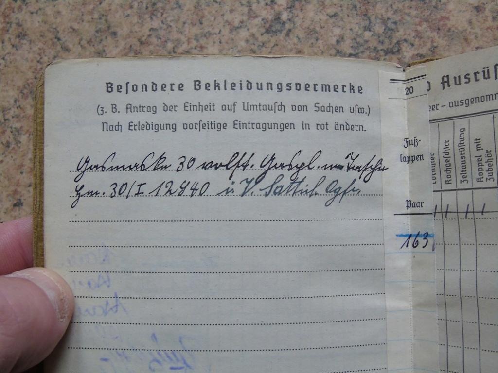 Soldbuch allemand 39-45 d'unmalgré nous à Traduire merci Dsc03140