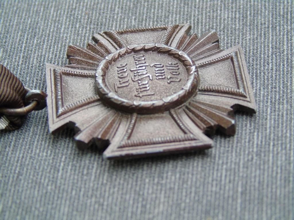 Médaille nsdap dienstauszeichnung En Bronze à identifier Dsc03413