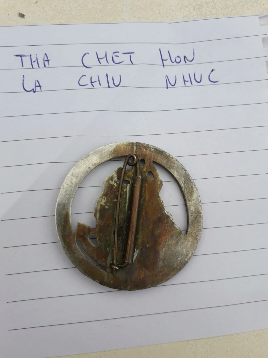 Insigne pucelle Indochine  FR. THA CHET HON Img-2046