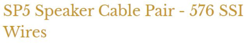 Morrow Audio SP5 Speaker Cable Pair Used (2.5m) Sp510