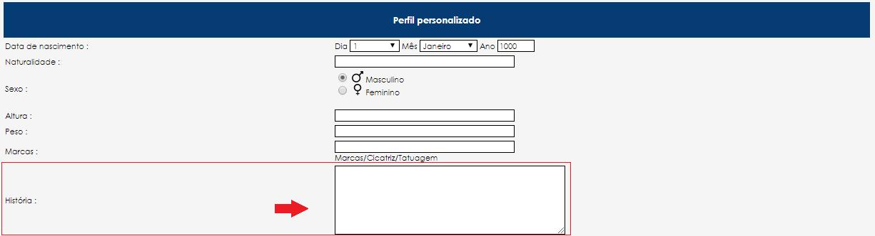 HTML/CSS na Caixa de Texto do Perfil Questy10