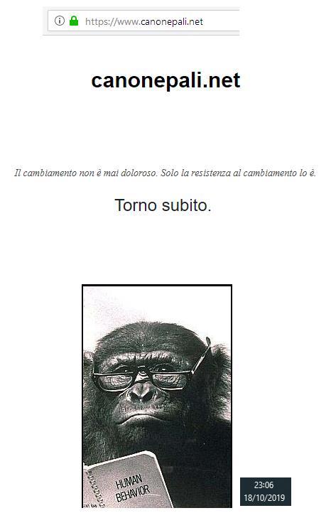 Il sito italiano del Canonepali è stato attaccato?  Canone10