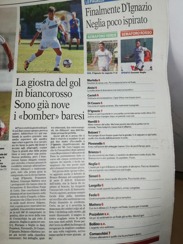 """GdM - La giostra del gol in biancorosso. Sono già nove i """"bomber"""" baresi Img_2015"""