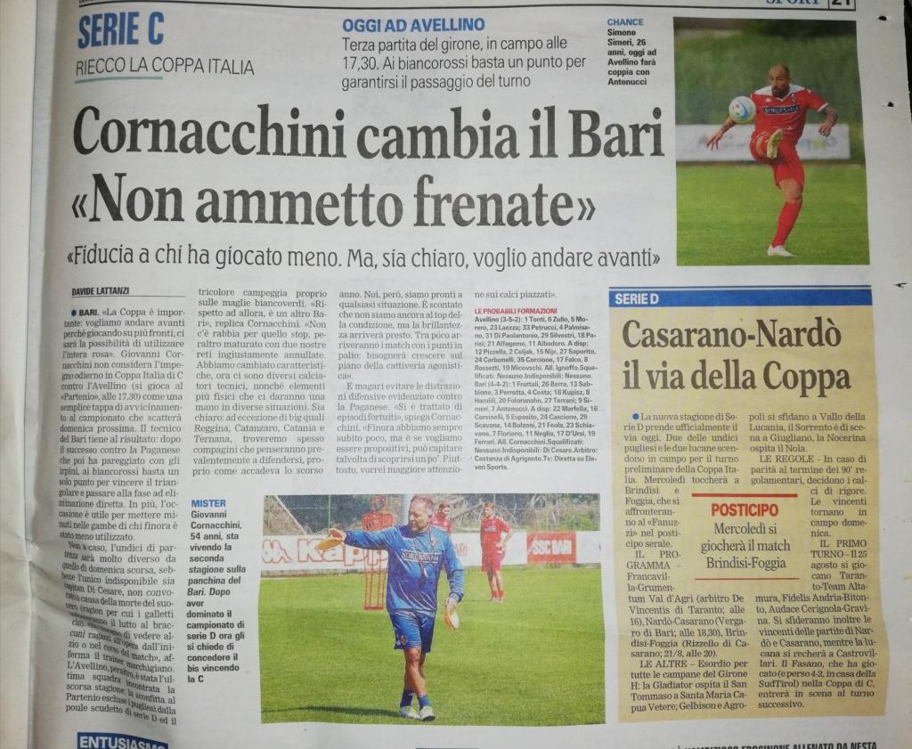 """GdM - Cornacchini cambia il Bari: """"Non ammetto frenate""""  Img_2028"""