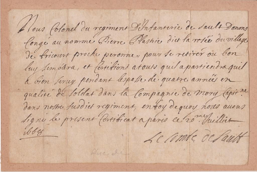 Estimation Documents papiers anciens régime sur Montpellier et Montauban + Conge 1668_c11
