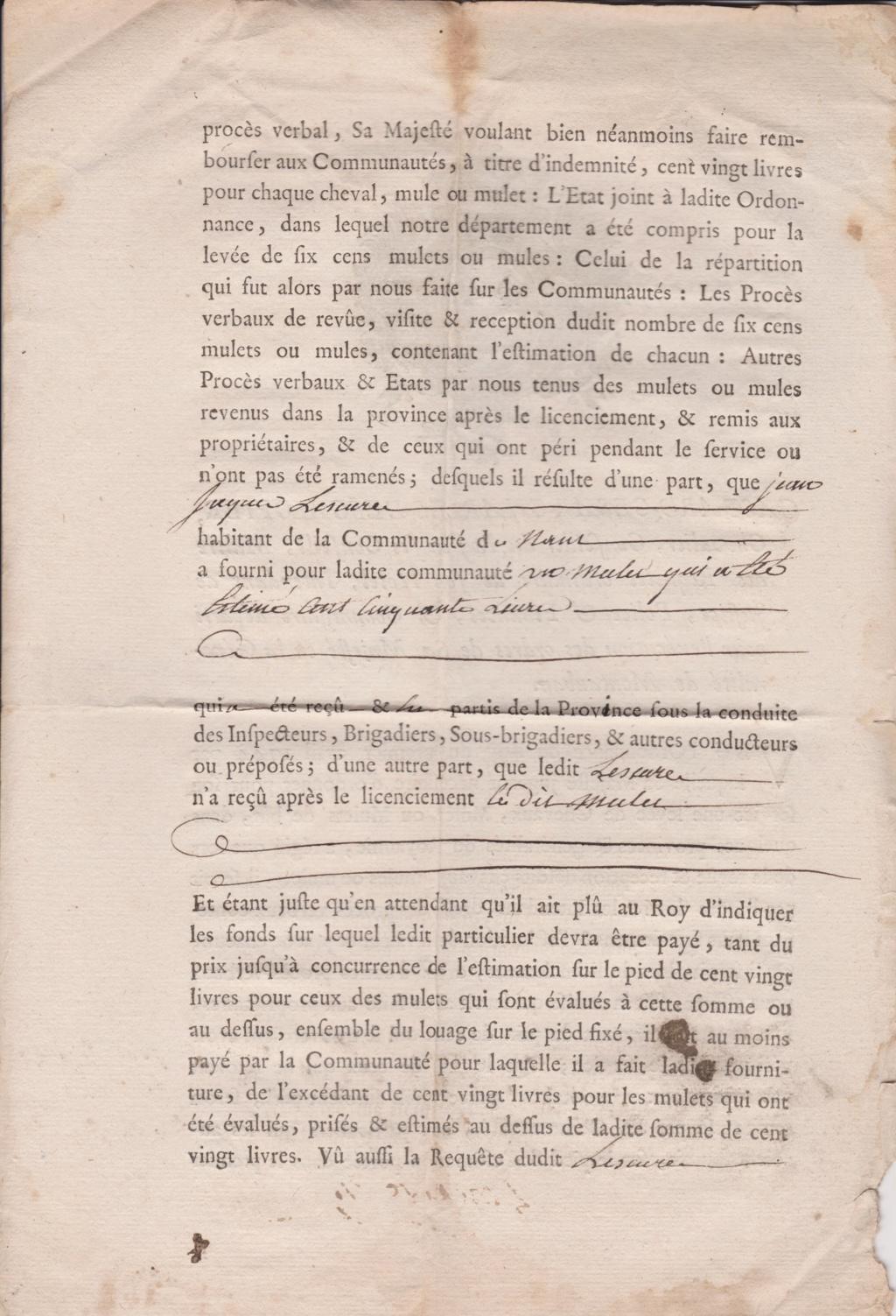 Estimation Documents papiers anciens régime sur Montpellier et Montauban + Conge 1753_p12