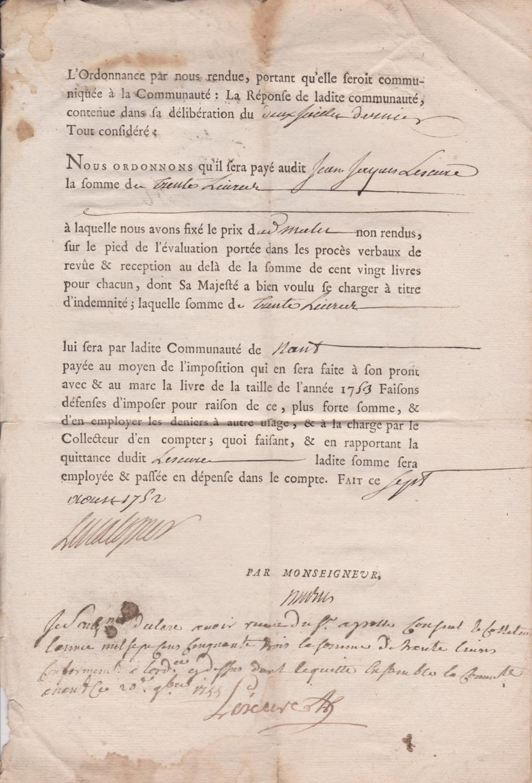 Estimation Documents papiers anciens régime sur Montpellier et Montauban + Conge 1753_p13