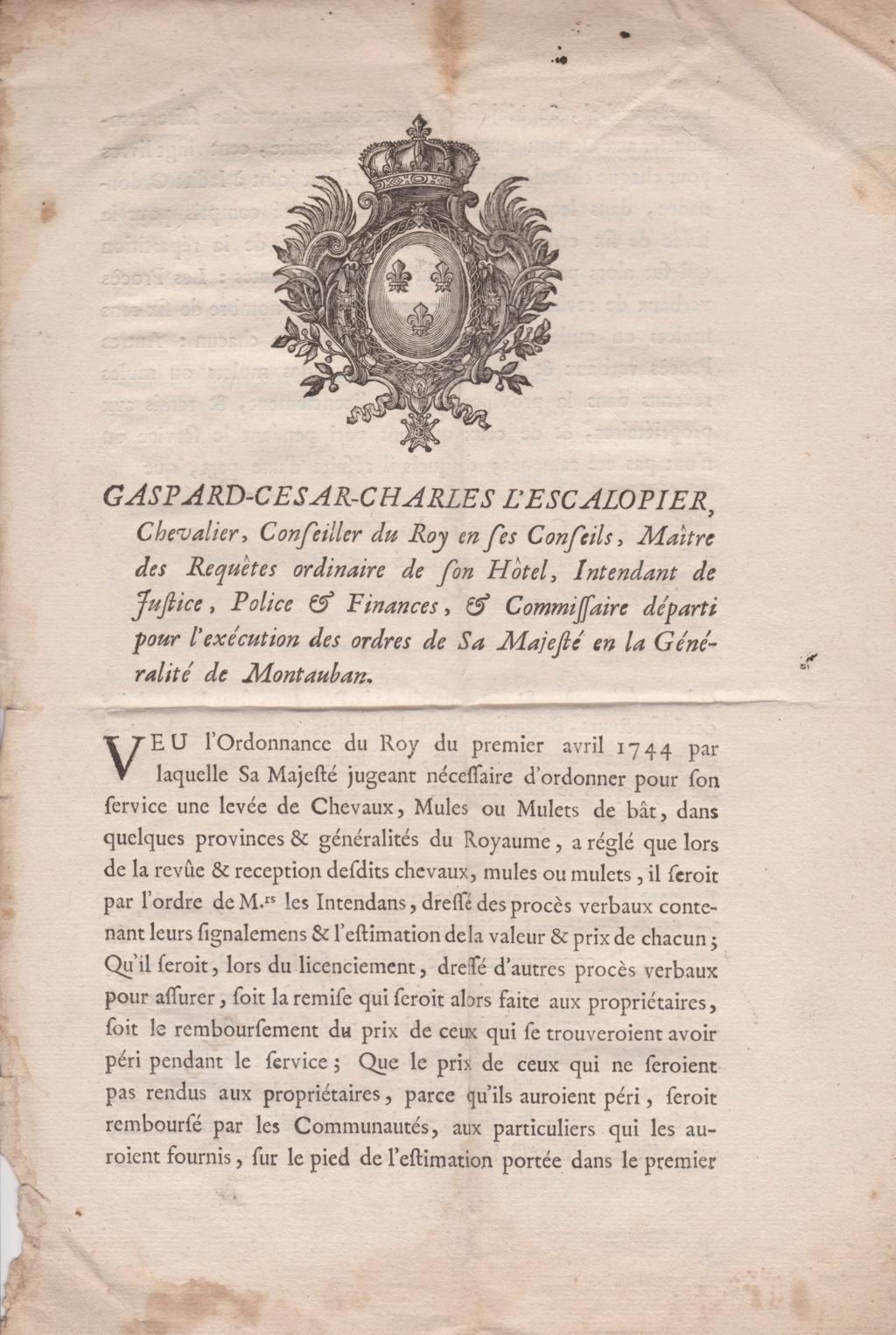Estimation Documents papiers anciens régime sur Montpellier et Montauban + Conge 1753_p14