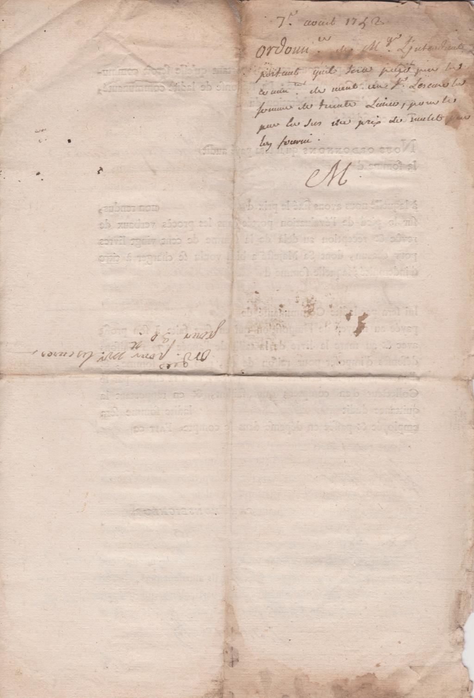 Estimation Documents papiers anciens régime sur Montpellier et Montauban + Conge 1753_p15