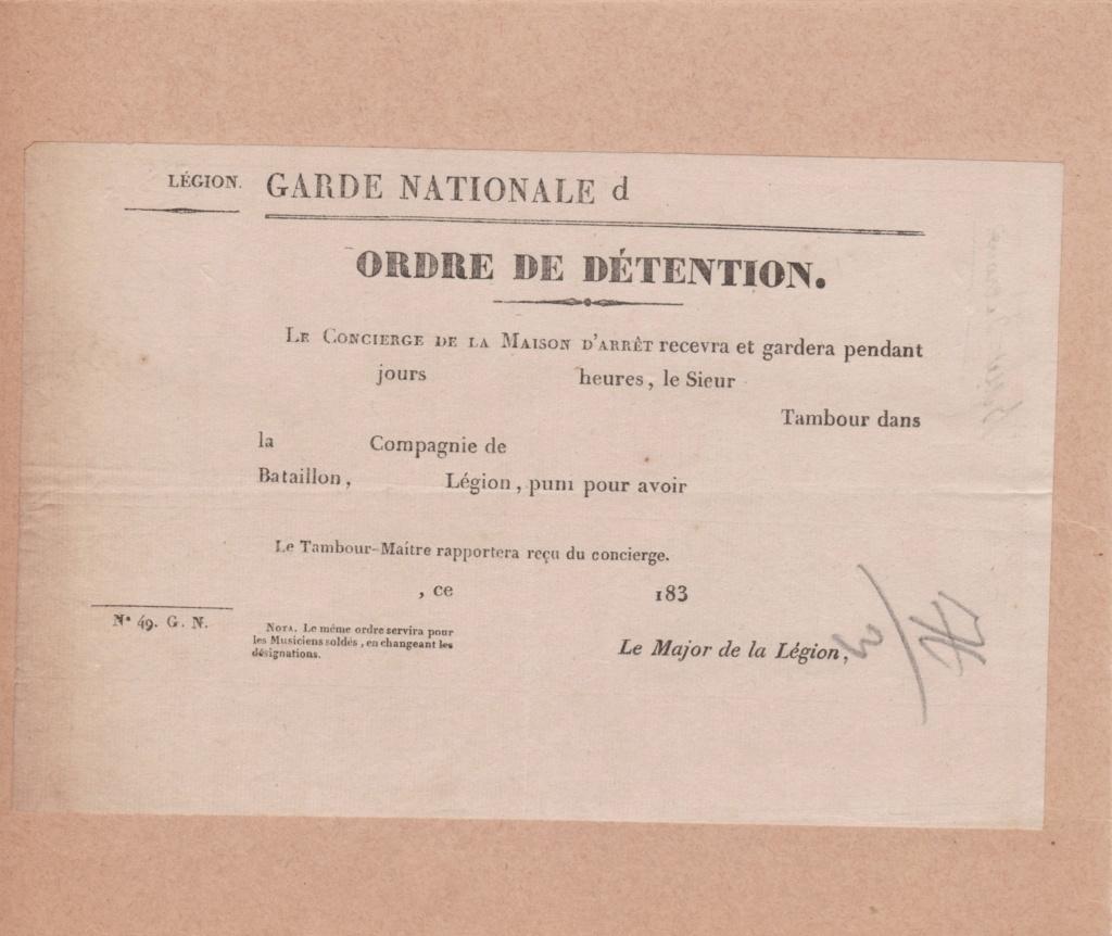 Estimation Documents de la garde Nationale vers 1830 dans l'Hérault 1830_g14