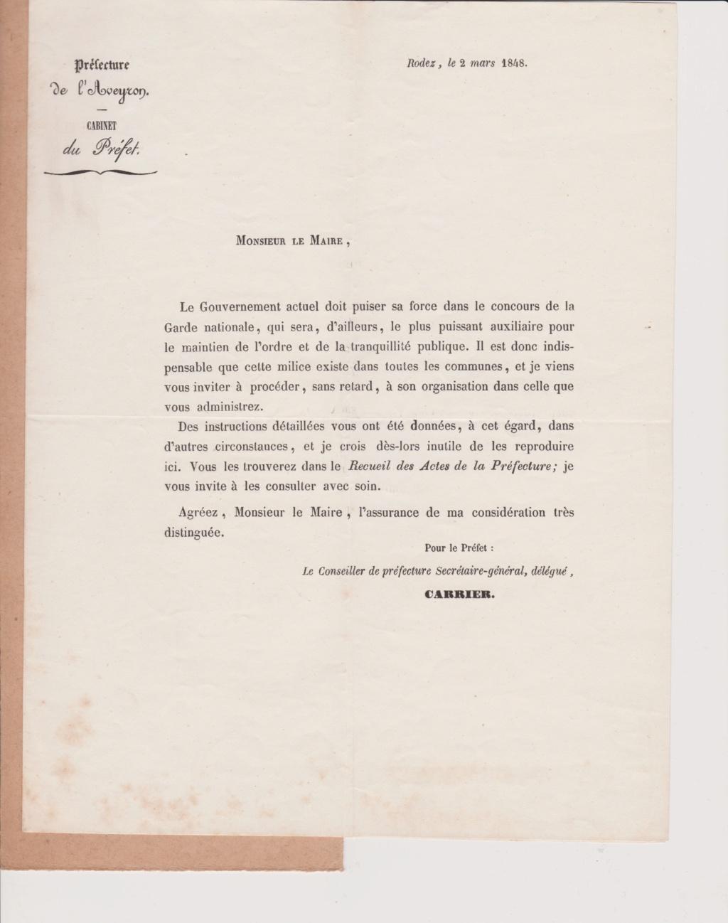 Estimation Documents de la garde Nationale de l'Aveyron 1848_g12