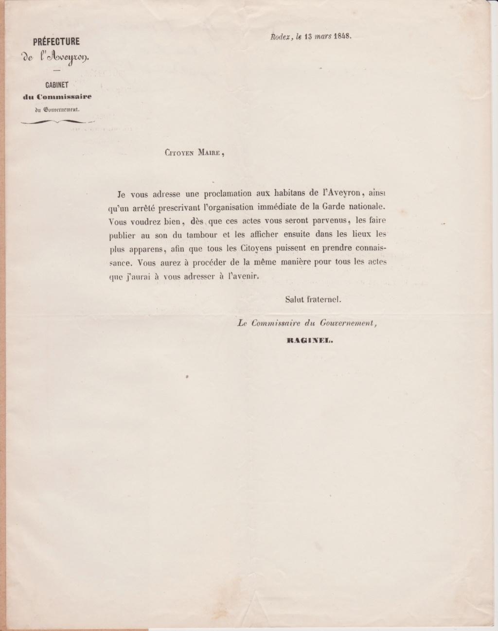 Estimation Documents de la garde Nationale de l'Aveyron 1848_g13