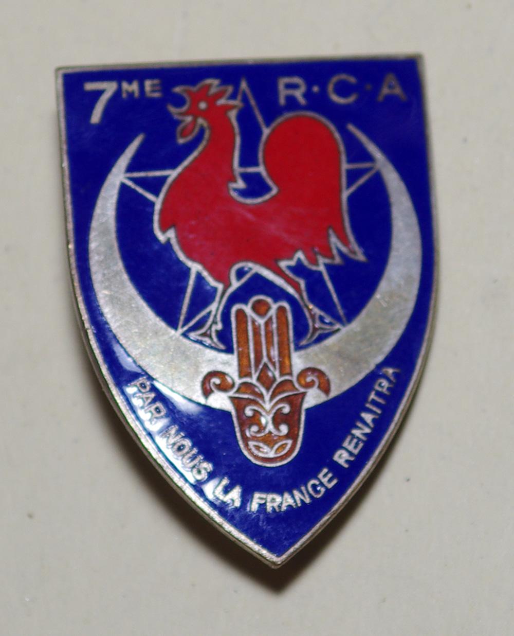 Insigne du 7ème RCA  7_rca10