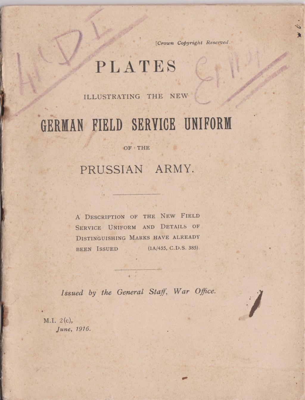 Livret allemand 1917 pour identification Armée Française Numzor22