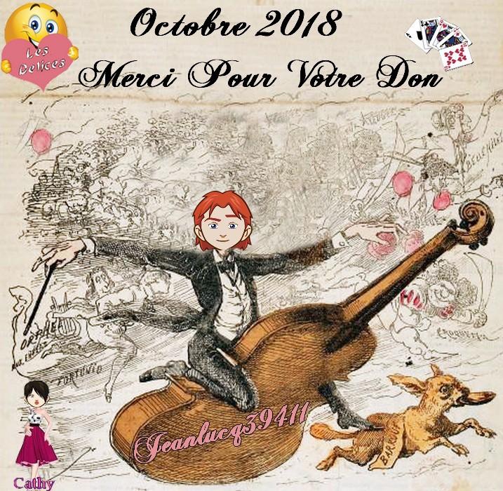 TROPHEES DONATEURS DU MOIS D'OCTOBRE 2018 Jeanlu12