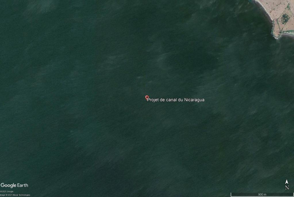 ( JAMAIS visible sur google earth ) canal interocéanique Nicaragua Projet10