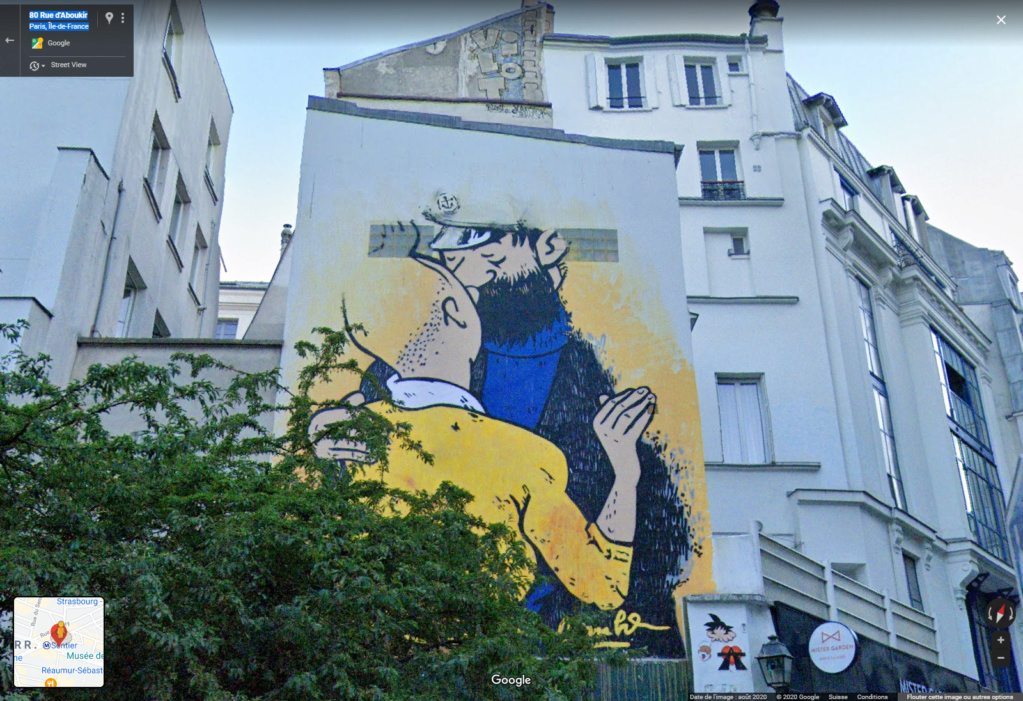 STREET VIEW : les fresques murales en France - Page 26 Tintin10
