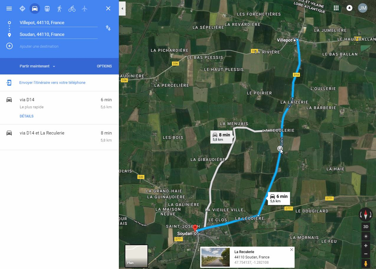 [résolu]Tracer un itinéraire, le sauver en KMZ [problème technique Google Earth] Villep10