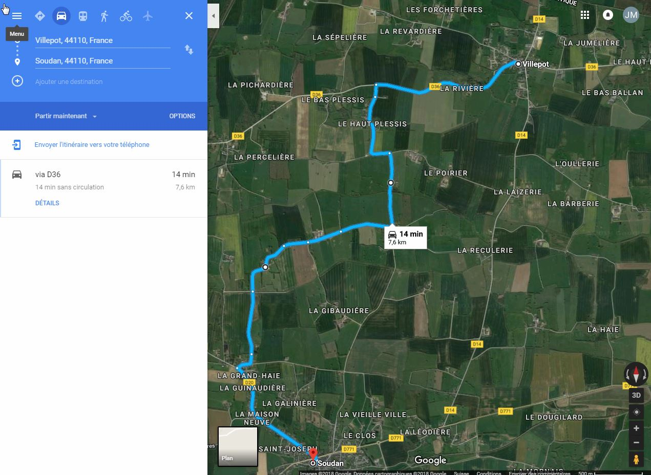[résolu]Tracer un itinéraire, le sauver en KMZ [problème technique Google Earth] Villep13