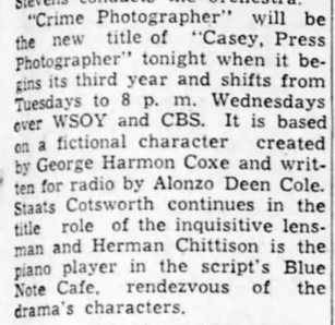 Casey, Crime Photographer 1945-051