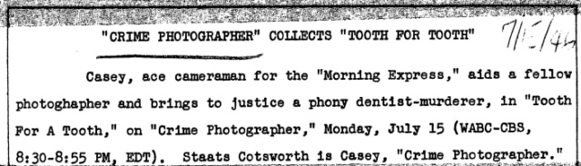 Casey, Crime Photographer 1945-057