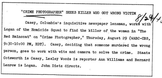 Casey, Crime Photographer 1946-037