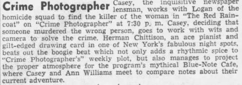 Casey, Crime Photographer 1946-038