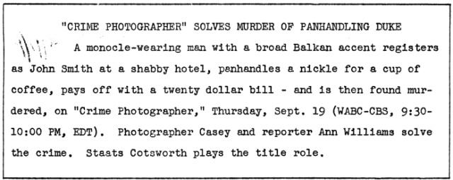 Casey, Crime Photographer 1946-042