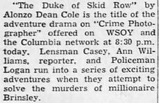 Casey, Crime Photographer 1946-043