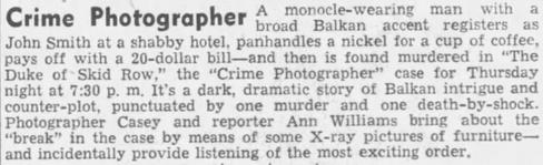 Casey, Crime Photographer 1946-045