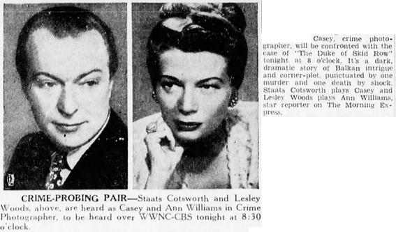 Casey, Crime Photographer 1946-046