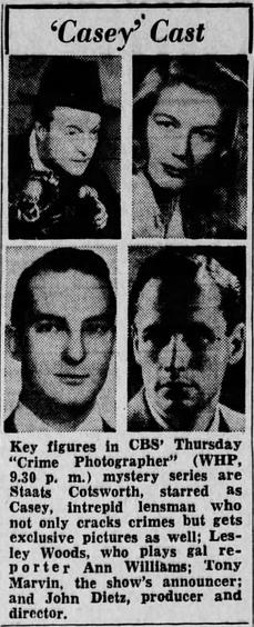 Casey, Crime Photographer 1946-047