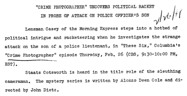 Casey, Crime Photographer - Page 5 1948-143