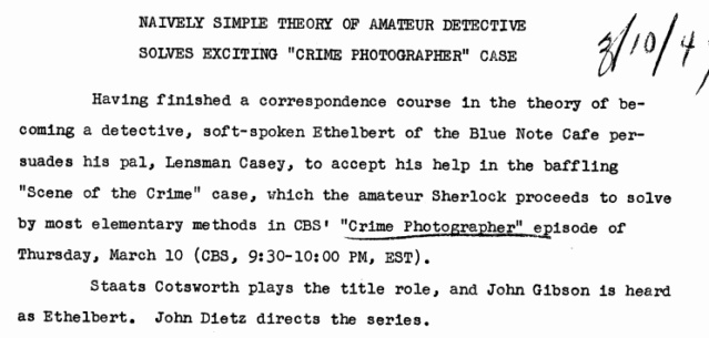 Casey, Crime Photographer - Page 6 1949-152
