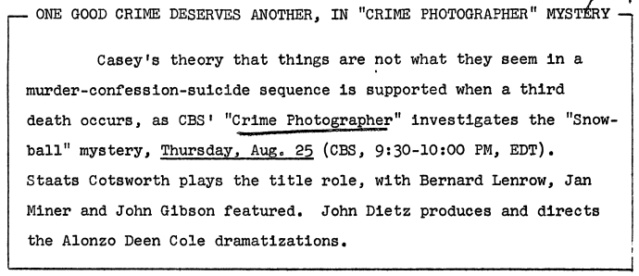 Casey, Crime Photographer - Page 6 1949-182