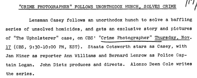 Casey, Crime Photographer - Page 6 1949-194
