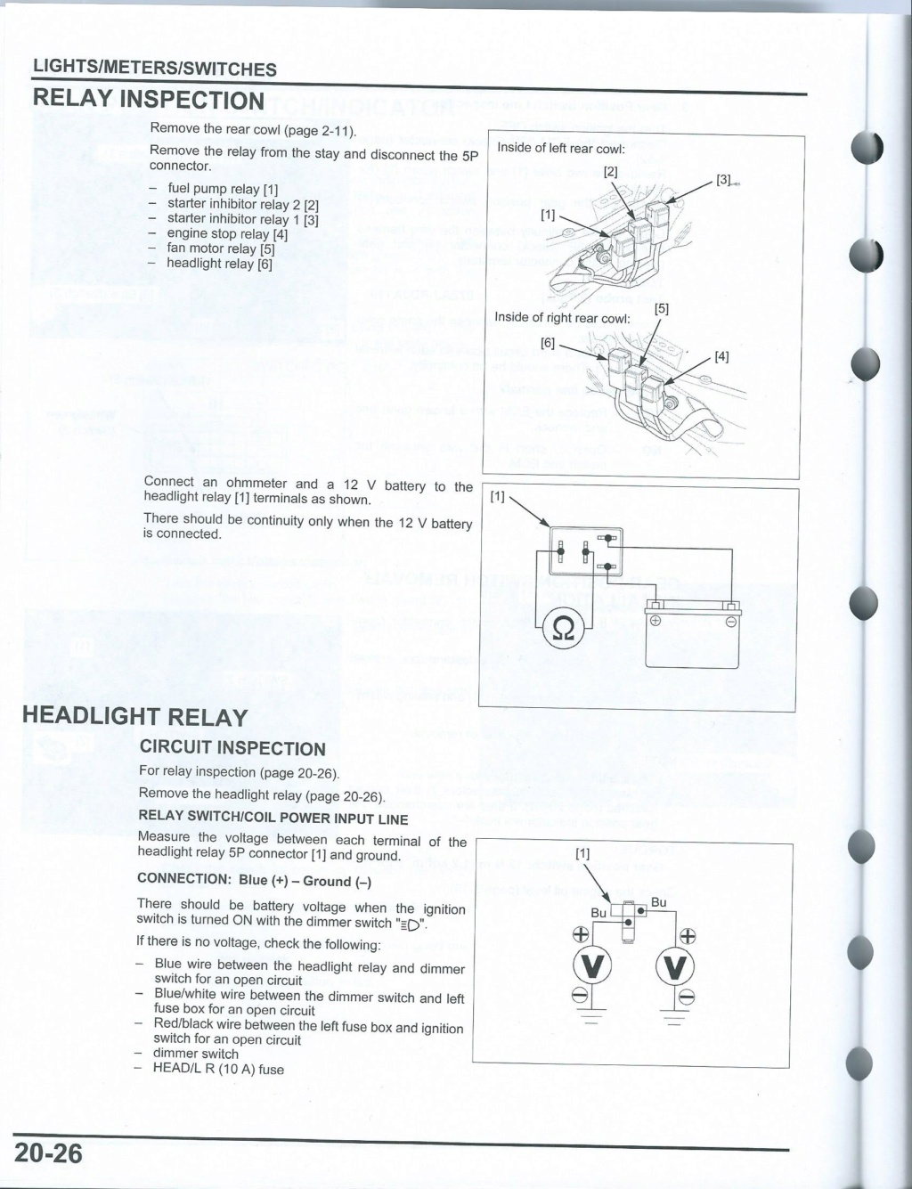Recherche de pages manuel d'atelier 20-2610