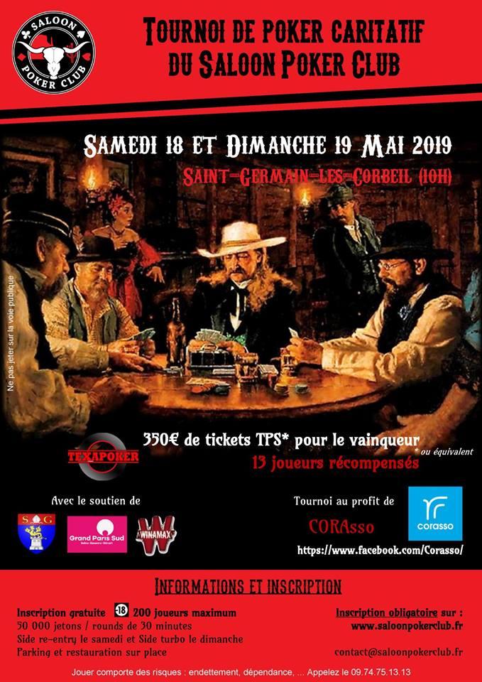 Tournoi caritatif Saloon Poker Club Saint Gernain lès Corbeil Tourno12