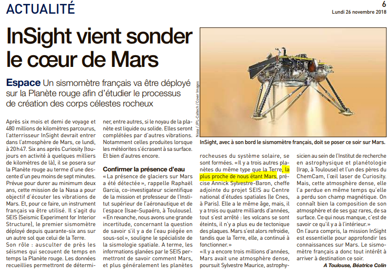 Spatial : les perles des médias Mars10