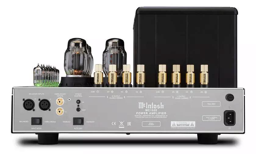 Nuevo amplificador de tubo de vacío MC1502 de McIntosh Mc150210