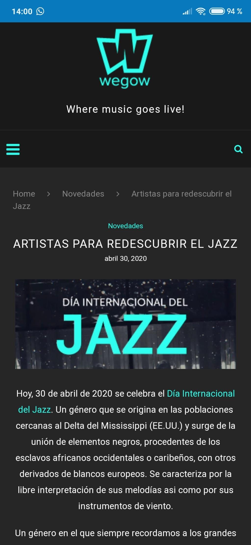 DIA INTERNACIONAL DEL JAZZ  Screen53