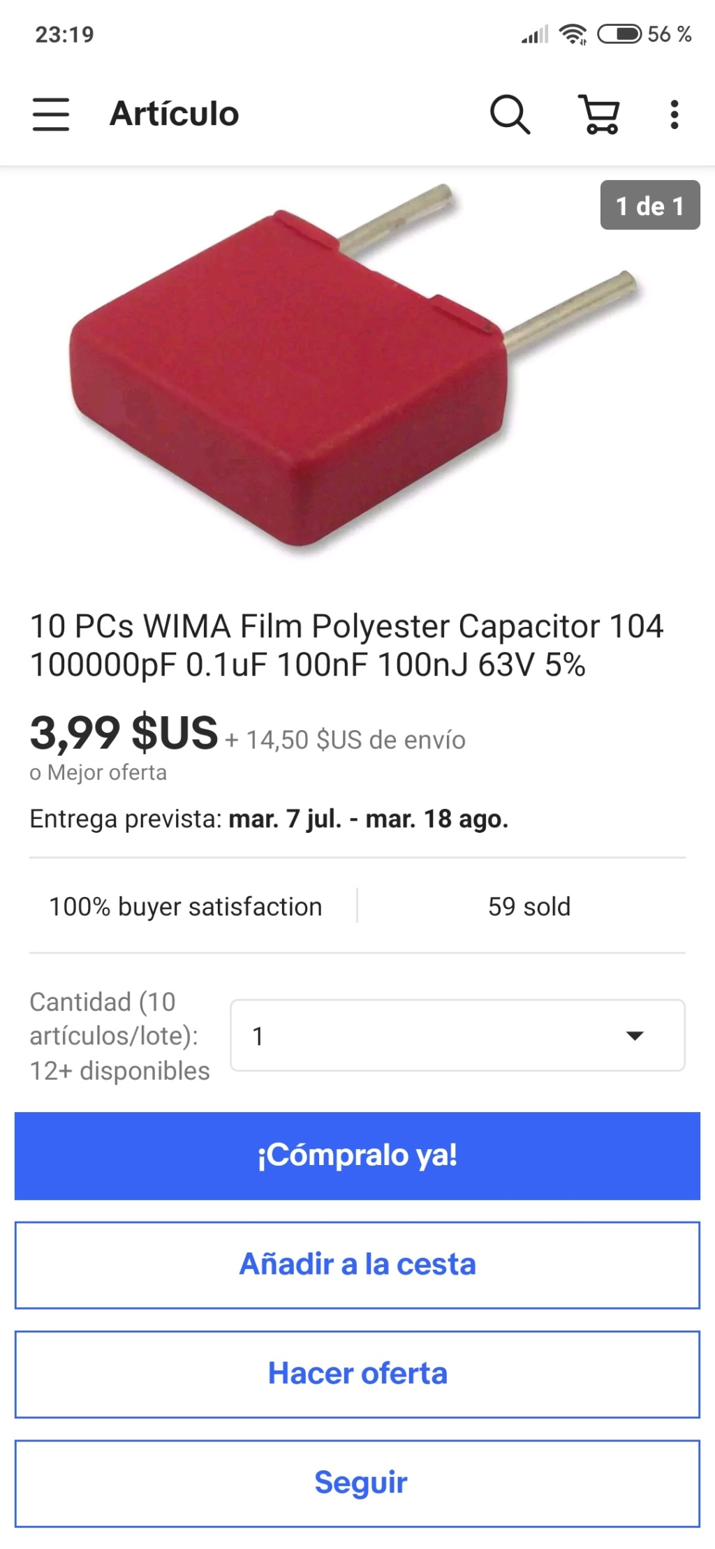 BUSCO CONDENSADORES DE 10UF- 250V Screen63