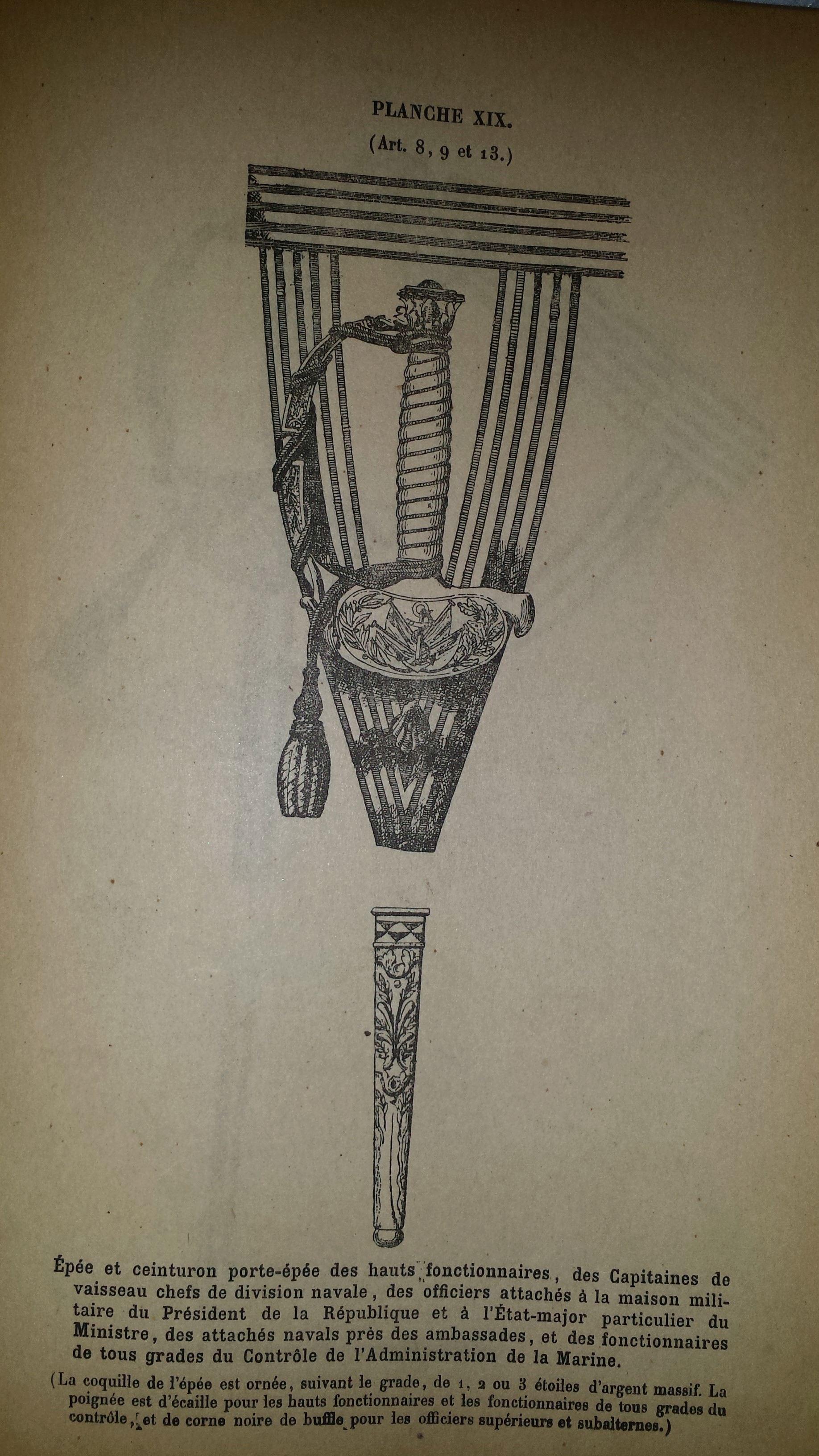 épée d'officier de marine  18111010