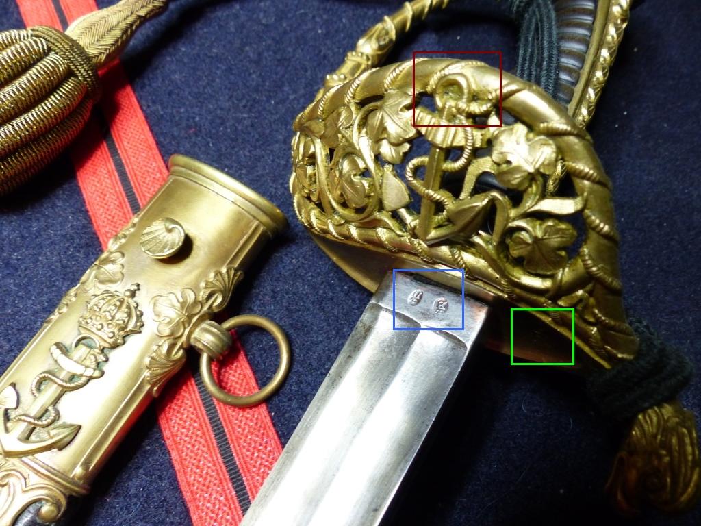 Sabres Marine et épées. P1220211