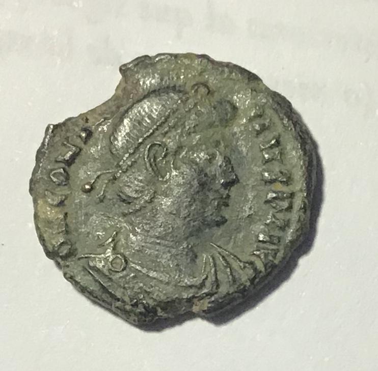 AE de Constancio II (imitación bárbara?). FEL TEMP - REPARATIO. Soldado romano alanceando a jinete caído. Roma 16db9f10